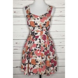(NBW) FOREVER21 Button-down Floral Open Back Dress